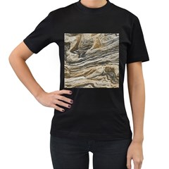 Rock Texture Background Stone Women s T Shirt (black)