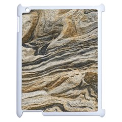 Rock Texture Background Stone Apple Ipad 2 Case (white) by Amaryn4rt