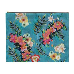 Lovely Colorful Flower Design  Cosmetic Bag (xl)