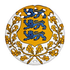 Coat Of Arms Of Estonia Ornament (round Filigree) by abbeyz71