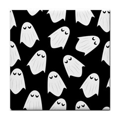 Ghost Halloween Pattern Tile Coasters by Amaryn4rt