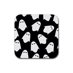 Ghost Halloween Pattern Rubber Coaster (square)  by Amaryn4rt