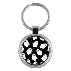 Ghost Halloween Pattern Key Chains (round)  by Amaryn4rt