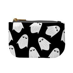 Ghost Halloween Pattern Mini Coin Purses by Amaryn4rt