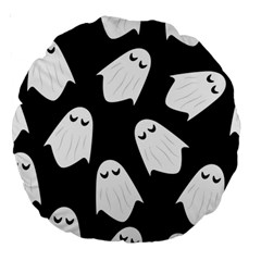 Ghost Halloween Pattern Large 18  Premium Round Cushions by Amaryn4rt