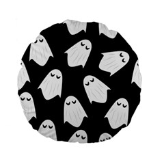Ghost Halloween Pattern Standard 15  Premium Flano Round Cushions by Amaryn4rt