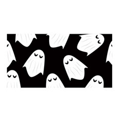 Ghost Halloween Pattern Satin Wrap by Amaryn4rt