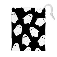 Ghost Halloween Pattern Drawstring Pouches (extra Large) by Amaryn4rt