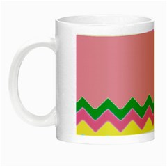 Easter Chevron Pattern Stripes Night Luminous Mugs by Amaryn4rt