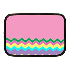 Easter Chevron Pattern Stripes Netbook Case (medium)  by Amaryn4rt