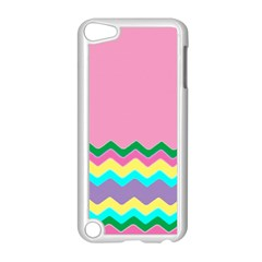 Easter Chevron Pattern Stripes Apple Ipod Touch 5 Case (white) by Amaryn4rt