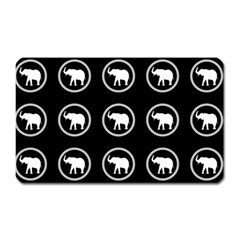Elephant Wallpaper Pattern Magnet (rectangular) by Amaryn4rt