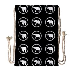 Elephant Wallpaper Pattern Drawstring Bag (large) by Amaryn4rt