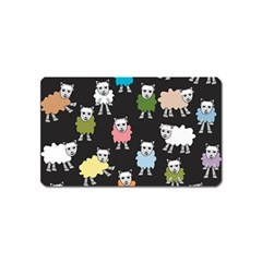 Sheep Cartoon Colorful Magnet (name Card) by Amaryn4rt