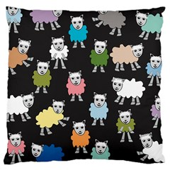 Sheep Cartoon Colorful Large Cushion Case (two Sides) by Amaryn4rt