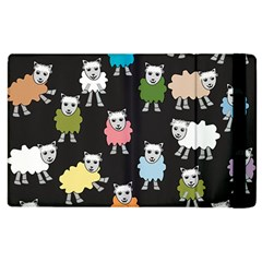 Sheep Cartoon Colorful Apple Ipad 3/4 Flip Case by Amaryn4rt