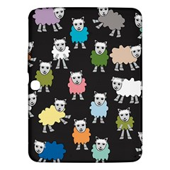 Sheep Cartoon Colorful Samsung Galaxy Tab 3 (10 1 ) P5200 Hardshell Case  by Amaryn4rt