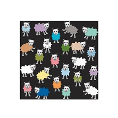 Sheep Cartoon Colorful Satin Bandana Scarf by Amaryn4rt