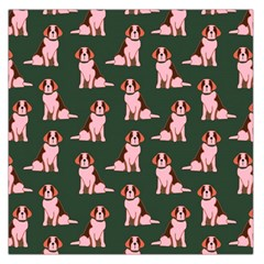 Dog Animal Pattern Large Satin Scarf (square) by Amaryn4rt