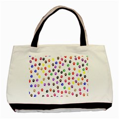 Paw Prints Background Basic Tote Bag