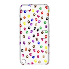 Paw Prints Background Apple Ipod Touch 5 Hardshell Case With Stand by Amaryn4rt