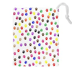 Paw Prints Background Drawstring Pouches (xxl)