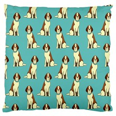 Dog Animal Pattern Large Flano Cushion Case (one Side)