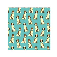 Dog Animal Pattern Small Satin Scarf (square)