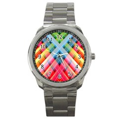 Graphics Colorful Colors Wallpaper Graphic Design Sport Metal Watch by Amaryn4rt