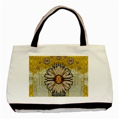 Power To The Big Flower Basic Tote Bag (two Sides) by pepitasart