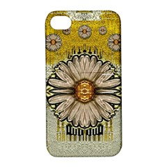 Power To The Big Flower Apple Iphone 4/4s Hardshell Case With Stand by pepitasart