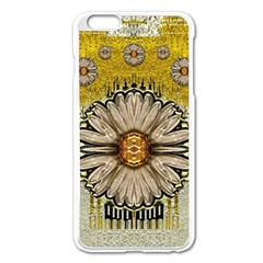 Power To The Big Flower Apple Iphone 6 Plus/6s Plus Enamel White Case by pepitasart