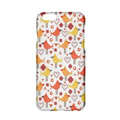 Animal Pattern Happy Birds Seamless Pattern Apple Iphone 6/6s Hardshell Case by Amaryn4rt
