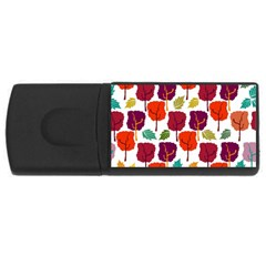 Tree Pattern Background Usb Flash Drive Rectangular (4 Gb) by Amaryn4rt