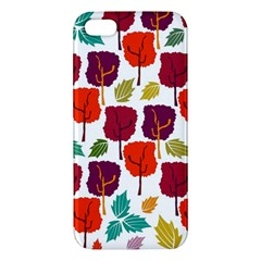 Tree Pattern Background Apple Iphone 5 Premium Hardshell Case by Amaryn4rt