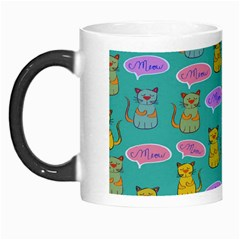 Meow Cat Pattern Morph Mugs