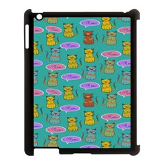 Meow Cat Pattern Apple Ipad 3/4 Case (black) by Amaryn4rt
