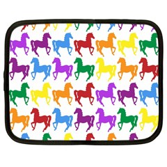 Colorful Horse Background Wallpaper Netbook Case (large) by Amaryn4rt