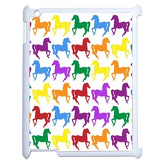 Colorful Horse Background Wallpaper Apple Ipad 2 Case (white) by Amaryn4rt