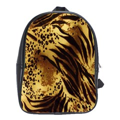 Stripes Tiger Pattern Safari Animal Print School Bags(large)