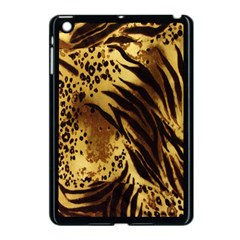 Stripes Tiger Pattern Safari Animal Print Apple Ipad Mini Case (black) by Amaryn4rt
