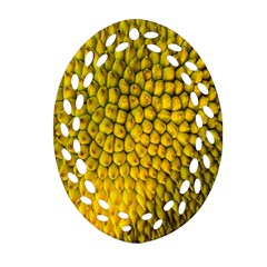Jack Shell Jack Fruit Close Oval Filigree Ornament (two Sides) by Amaryn4rt