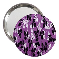 Floral Pattern Background 3  Handbag Mirrors by Amaryn4rt