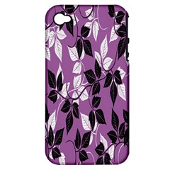 Floral Pattern Background Apple Iphone 4/4s Hardshell Case (pc+silicone) by Amaryn4rt