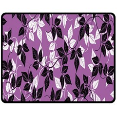 Floral Pattern Background Double Sided Fleece Blanket (medium)  by Amaryn4rt