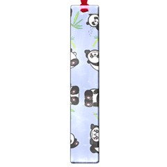 Panda Tile Cute Pattern Blue Large Book Marks