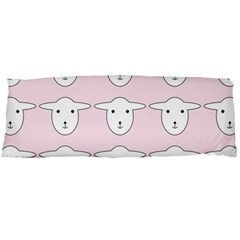 Sheep Wallpaper Pattern Pink Body Pillow Case Dakimakura (two Sides) by Amaryn4rt