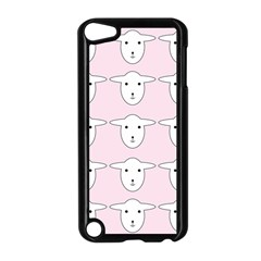 Sheep Wallpaper Pattern Pink Apple Ipod Touch 5 Case (black)