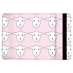 Sheep Wallpaper Pattern Pink Ipad Air Flip by Amaryn4rt
