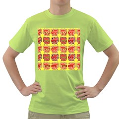 Funny Faces Green T Shirt